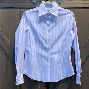EUC Brooks Brothers lavender stripe button down, 2